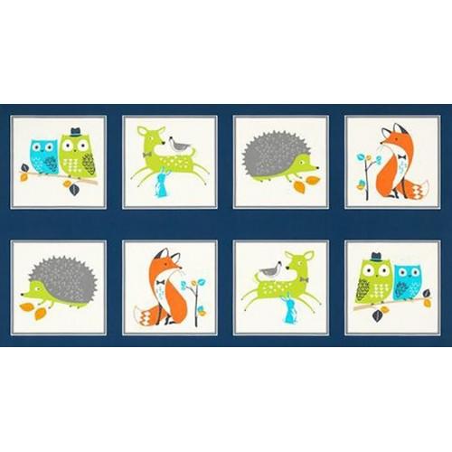 Animali del bosco - Pannello blu