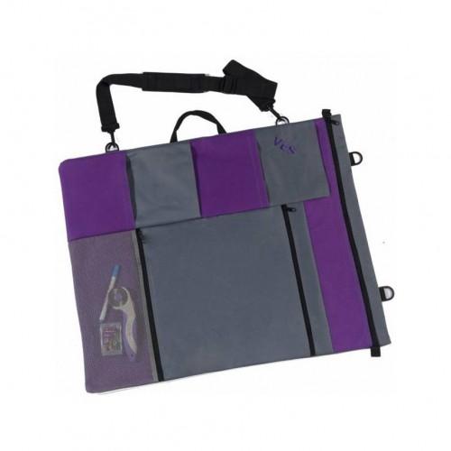 Borsa porta accessori patchwork lilla
