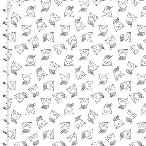 Whimsy woodland - Civette su bianco
