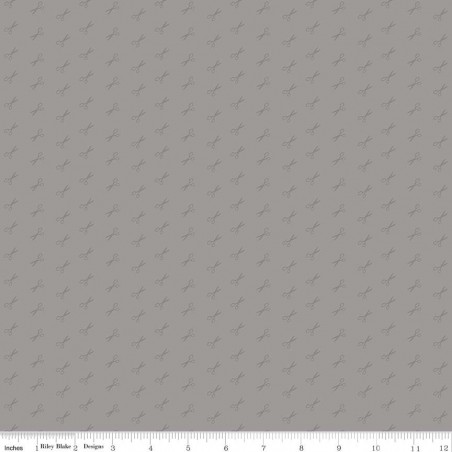 Tono su tono - Piccole forbici su grigio