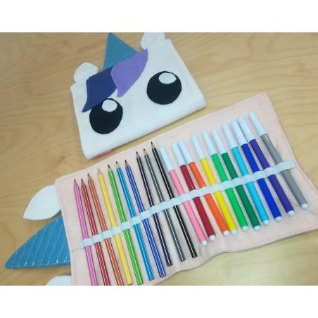 Kit portapenne unicorno