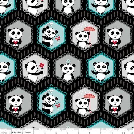 Panda Love - Panda su nero
