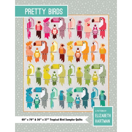 Cartamodello Pretty Birds quilt block di Elizabeth Hartman
