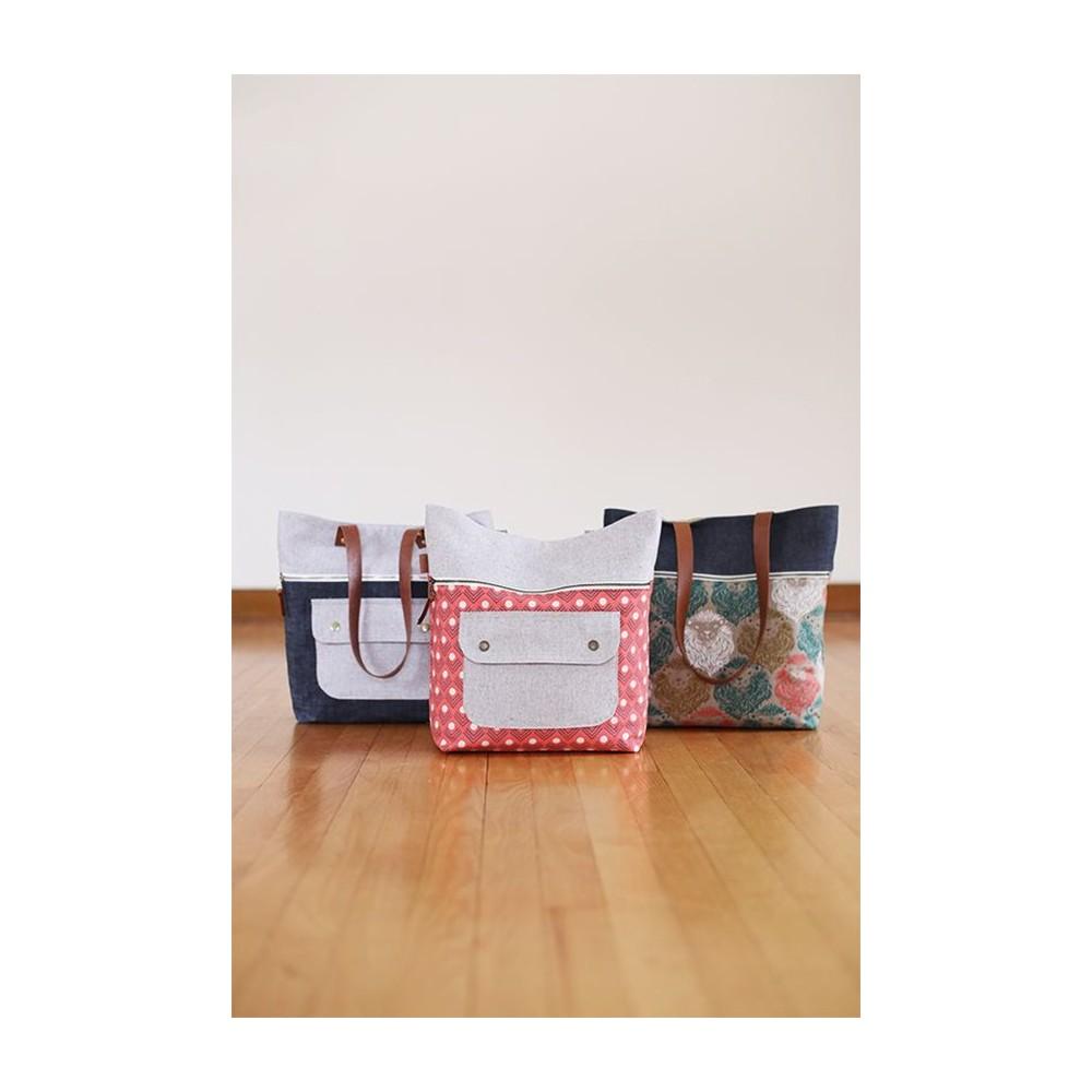 Caravan Tote + Pouch pattern di Noodlehead