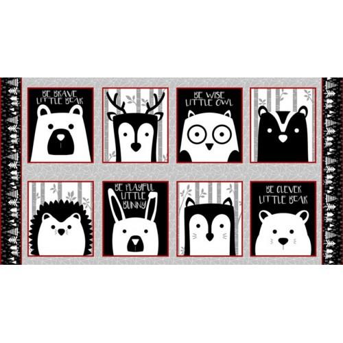 Pannello animali in bianco e nero