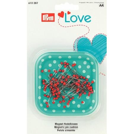 Porta spilli magnetico con spilli testa vetro Prym Love