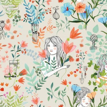 Popeline 100% cotone - Garden Flowers