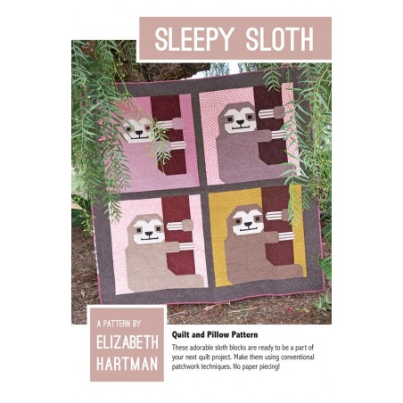 Cartamodello Sleepy Sloth quilt pattern di Elizabeth Hartman