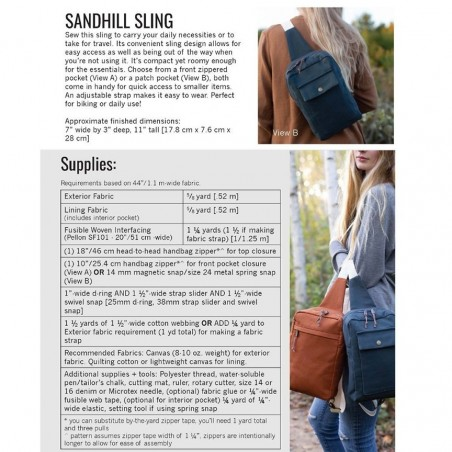 Sandhill Sling Bag pattern di Noodlehead