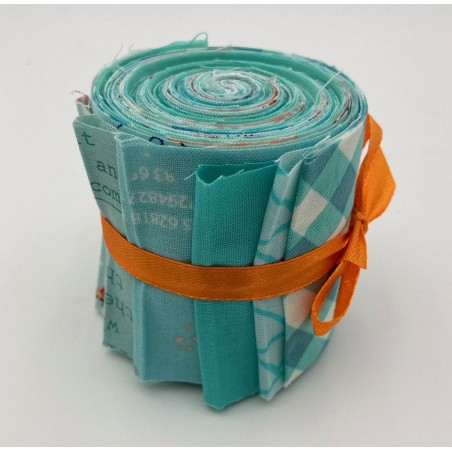 Jelly roll - 10 strisce - verde acqua