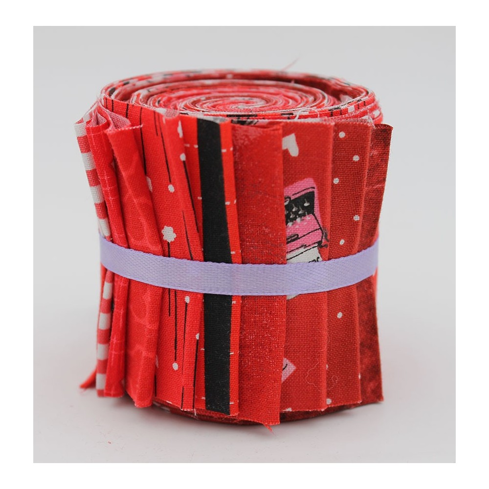 Jelly roll - 10 strisce - rosso