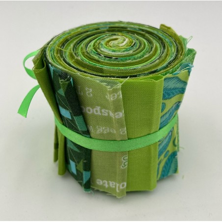 Jelly roll - 10 strisce - verde