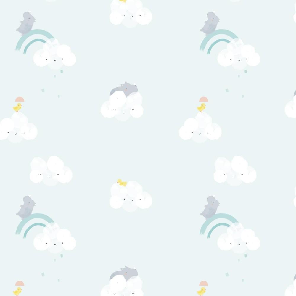 Popeline 100% cotone - Cloud Rhinos
