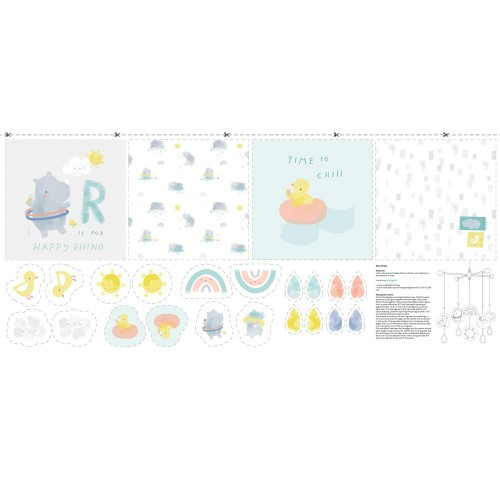 Summer sweat baby panel - Katia - Rhinos Baby Panel