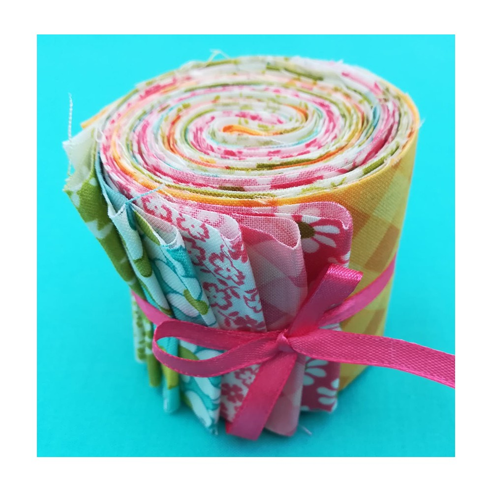 Mini jelly roll - 10 strisce - A Blooming Bunch