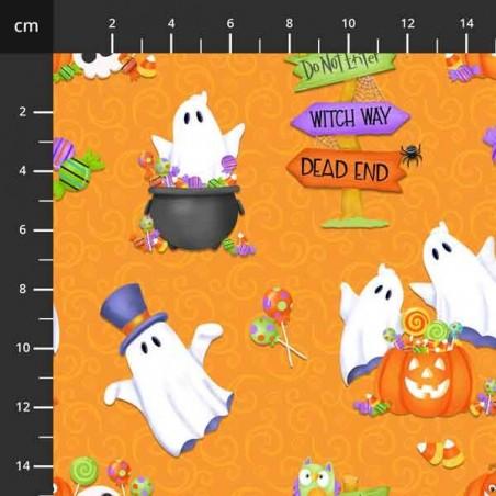 Glow Ghosts - Fantasmi su arancione - 4706-669