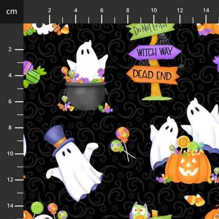 Glow Ghosts - Fantasmi su nero - 4706-670