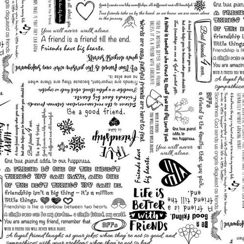 Retro - Scritte bianche e nere - 2555-057