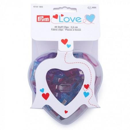 Scatolina a cuore con 40 clips Prym Love 610185