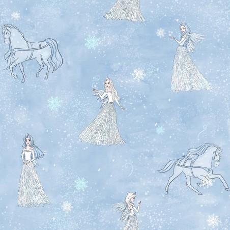 Popeline 100% cotone - Snow Queen