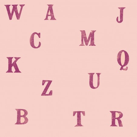 Soft french terry print - Lettere su rosa