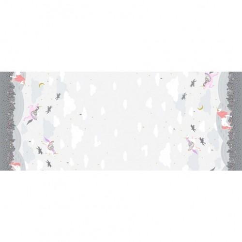 Believe - Fantasia doppia unicorni su grigio