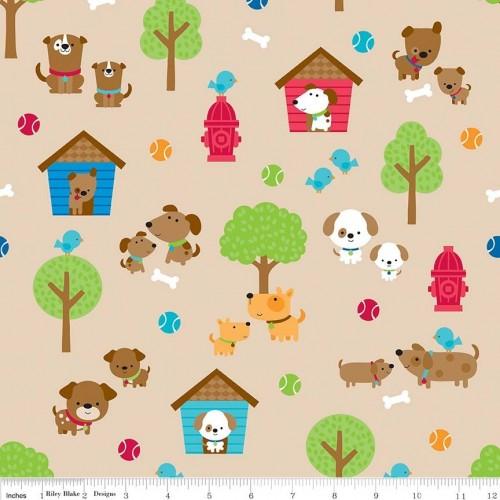 Puppy love - Paesaggio su beige