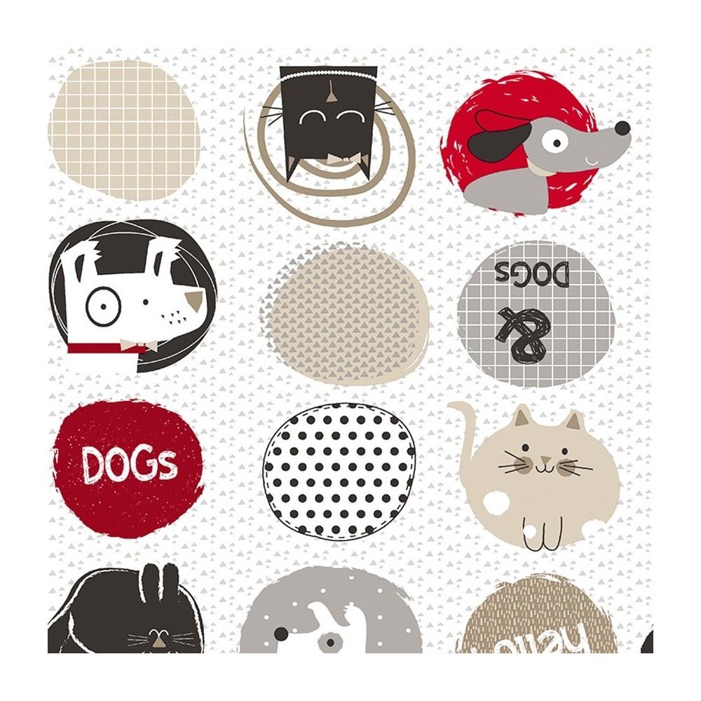 Cotone francese - Cani e gatti in rosso