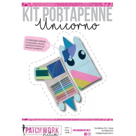 Kit portapenne unicorno