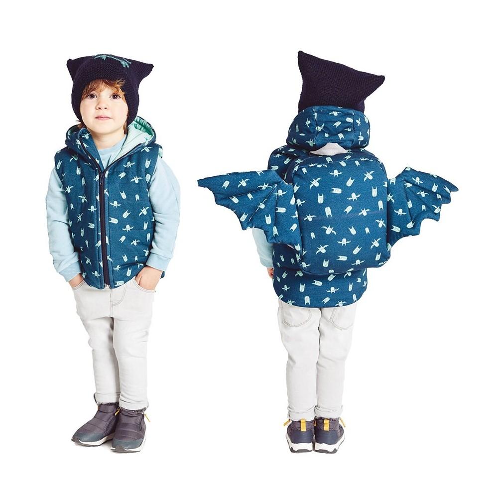 Cartamodello Katia 2319- L17 - Gilet + zaino + cappello tricot